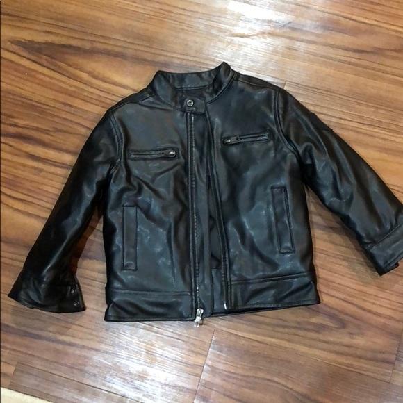 Lucky Brand Other - Boys black leather jacket size 3T